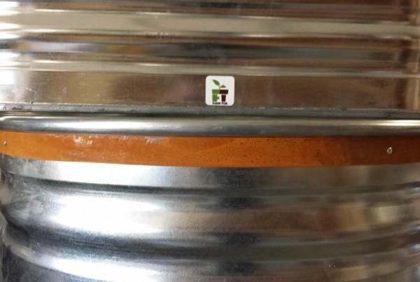 Galvanized (top), Galvanized w/ Rusted banding (bottom)
